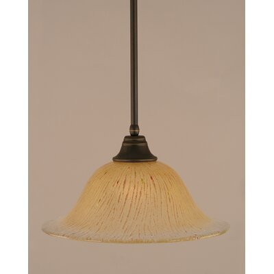 Stem 1-Light Mini Pendant Shade Color: Amber