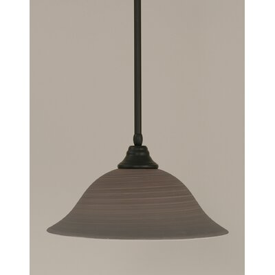 Stem 1-Light Mini Pendant Shade Color: Gray