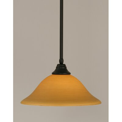 Stem 1-Light Mini Pendant Shade Color: Cayenne