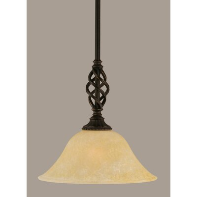 Elegante 1-Light Mini Pendant Shade Color: Amber