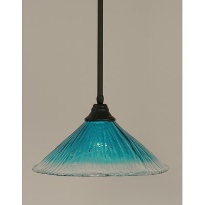 Stem 1-Light Mini Pendant Shade Color: Teal