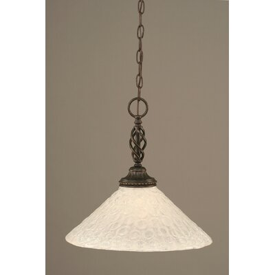 Elegant� 1-Light Pendant Shade Color: Italian Bubble Glass