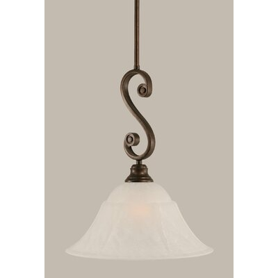 Babin 1-Light Mini Pendant Size: 17.5 H x 14 W, Shade Color: White