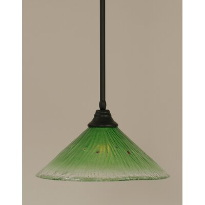 Stem 1-Light Mini Pendant Shade Color: Kiwi Green