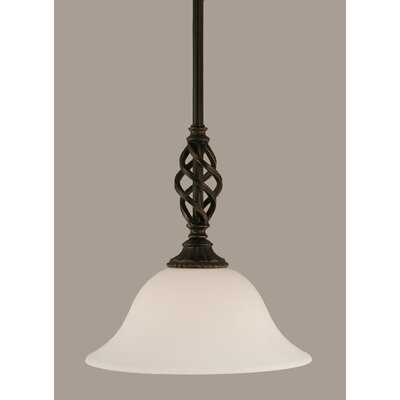 Elegante 1-Light Mini Pendant Shade Color: White, Size: 10 H x 10 W