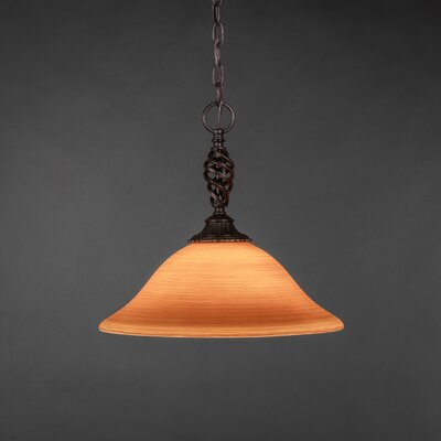 Elegante 1-Light Mini Pendant Shade Color: Cayenne