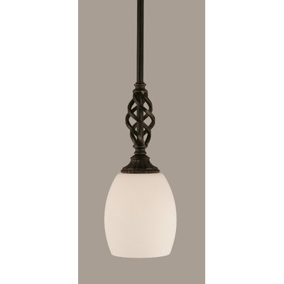 Elegante 1-Light Mini Pendant Shade Color: White