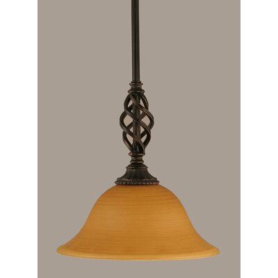 Elegante 1-Light Mini Pendant Size: 10 H x 10 W, Shade Color: Cayenne