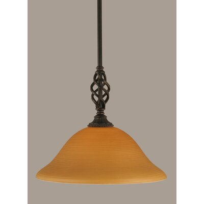 Elegante 1-Light Mini Pendant Size: 11.5 H x 12 W, Shade Color: Cayenne