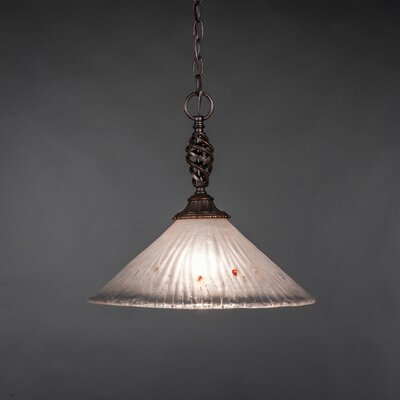 Elegante 1-Light Mini Pendant Shade Color: Frosted