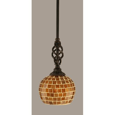 Elegante 1-Light Mini Pendant Size: 10.75 H x 6 W