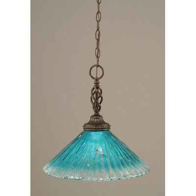 Elegante 1-Light Mini Pendant Shade Color: Teal