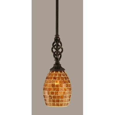 Elegante 1-Light Mini Pendant Size: 12.5 H x 5 W
