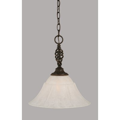 Elegante 1-Light Mini Pendant Shade Color: White, Size: 15.25