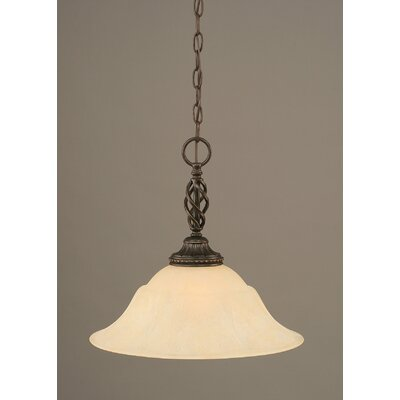 Elegante 1-Light Mini Pendant Shade Color: Amber, Size: 14.75