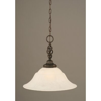 Elegante 1-Light Mini Pendant Shade Color: White, Size: 14.75 H x 16 W