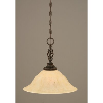 Pierro 1-Light Amber Mini Pendant Size: 14.75 H x 16 W