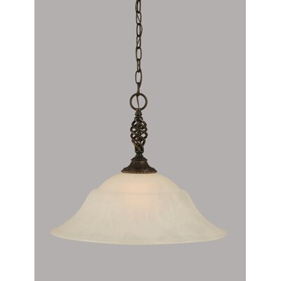 Elegante 1-Light Mini Pendant Shade Color: White, Size: 15.5 H x 20 W