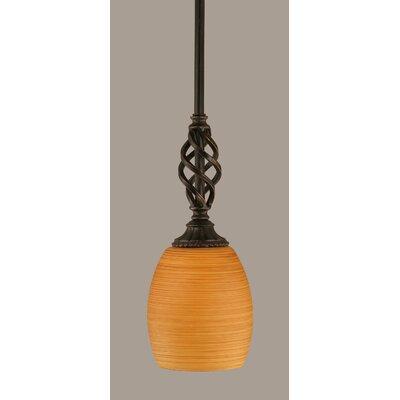 Elegante 1-Light Mini Pendant Shade Color: Cayenne