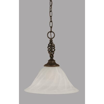 Elegante 1-Light Mini Pendant Size: 15 H x 14 W