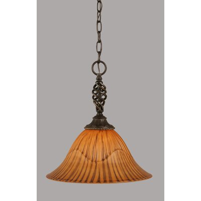 Elegante 1-Light Mini Pendant Size: 15.25 H x 14 W