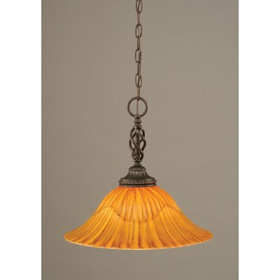 Elegante 1-Light Mini Pendant Size: 14.5 H x 16 W