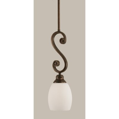 Babin 1-Light Mini Pendant Shade Color: White