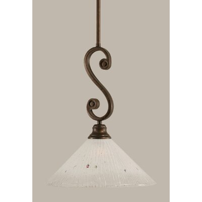 Babin Mini Pendant With Hang Straight Swivel Size: 12 W, Shade Color: frosted crystal Glass