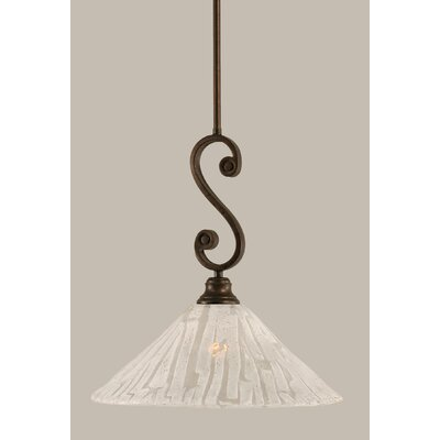 Babin 1-Light Mini Pendant Size: 16.25 H x 16 W