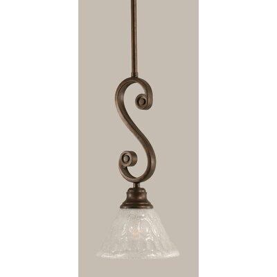 Babin Mini Pendant With Hang Straight Swivel Size: 7 W, Shade Color: Bubble Glass