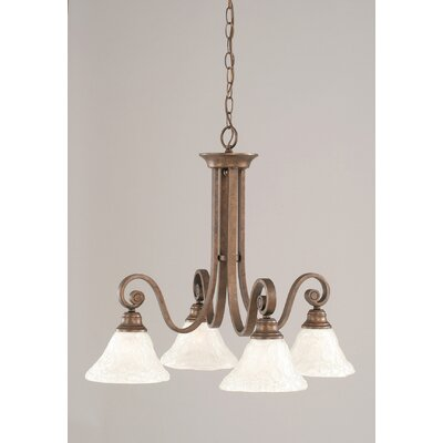 Babin 4-Light Shaded Chandelier
