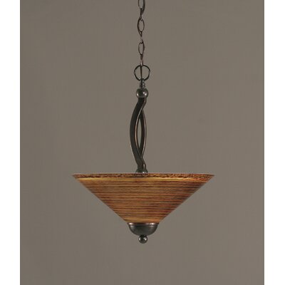 Blankenship 2-Light Metal Inverted Pendant Color: Black Copper