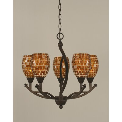 Bow 5-Light Shaded Chandelier Size: 20.25 H x 20 W x 20 D