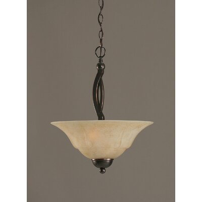 Blankenship 2-Light Inverted Pendant Finish: Black Copper