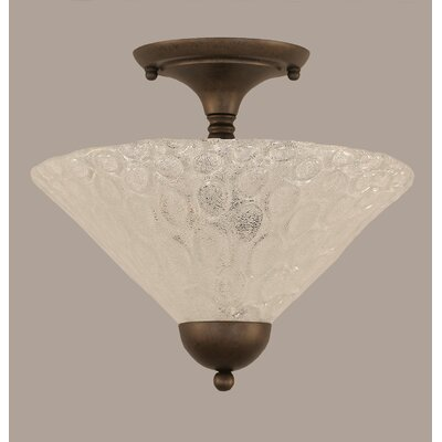 2-Light Semi Flush Mount Finish: Bronze