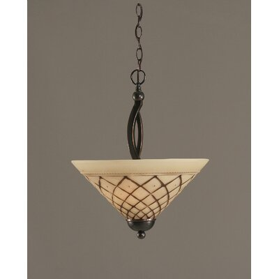 Bow 2-Light Inverted Pendant Finish: Black Copper