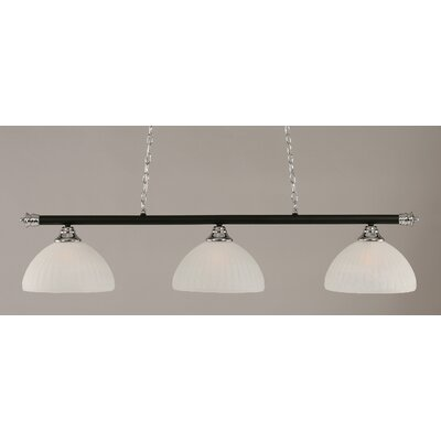 Passabe Modern 3-Light Billiard Light Finish: Chrome and Matte Black