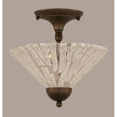 2-Light Semi Flush Mount Finish: Bronze