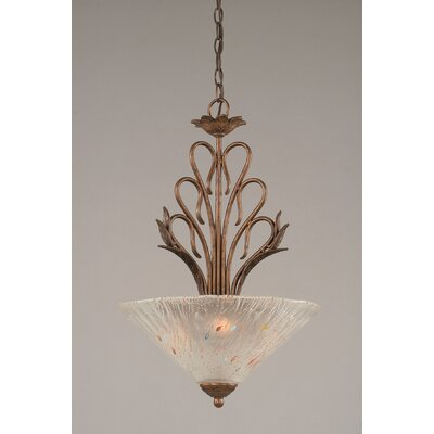 Swan 3-Light Inverted Pendant Shade Color: Frosted