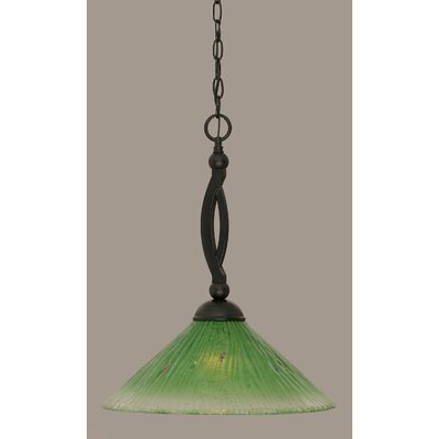 Bow 1-Light Mini Pendant Shade Color: Kiwi Green, Size: 19.75 H x 16 W