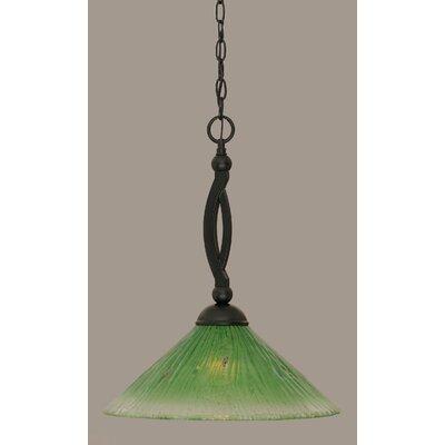 Bow 1-Light Mini Pendant Shade Color: Kiwi Green, Size: 19.75