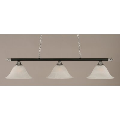Passabe Traditional 3-Light Billiard Light Finish: Chrome and Matte Black