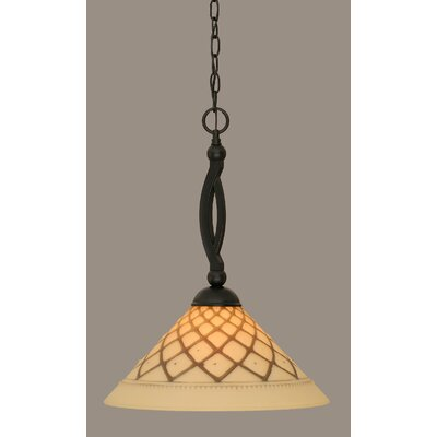 Bow 1-Light Mini Pendant Size: 20.75 H x 16 W