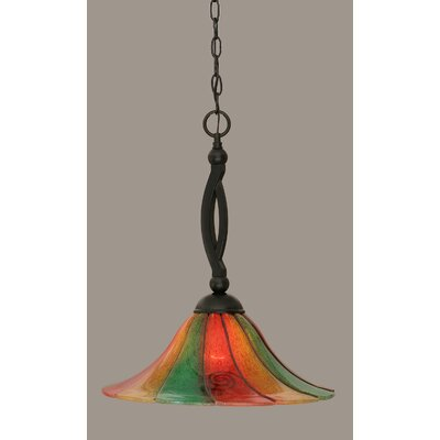 Bow 1-Light Mini Pendant Size: 19.5 H x 16 W