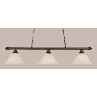 Passabe Traditional 3-Light Billiard Light Finish: Bronze