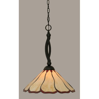 Austinburg 1-Light Metal Mini Pendant Shade Color: Honey and Burgundy