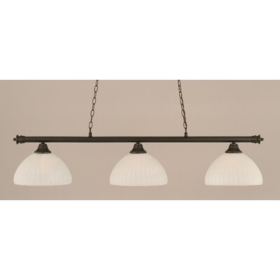 Passabe Modern 3-Light Billiard Light Finish: Dark Granite