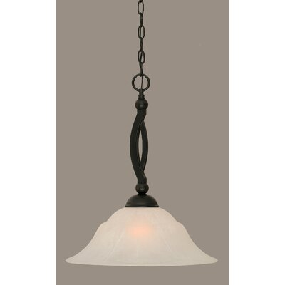 Blankenship Contemporary 1-Light 150W Mini Pendant Shade Color: White, Size: 19.5 H x 16 W