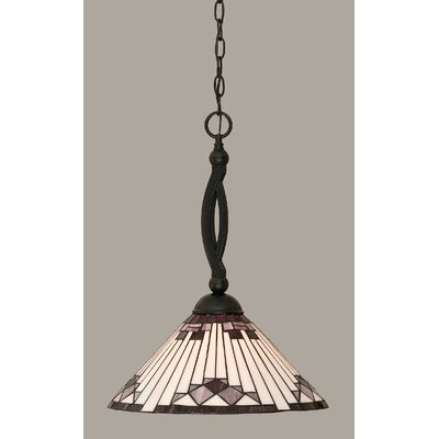 Essonnes 1-Light Mini Pendant Shade Color: Purple