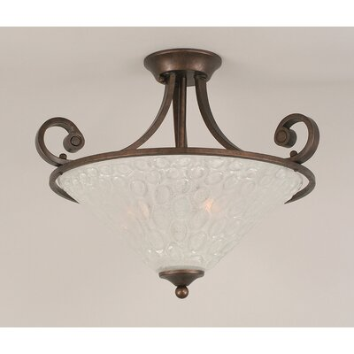 Jacksonville 3-Light Semi Flush Mount
